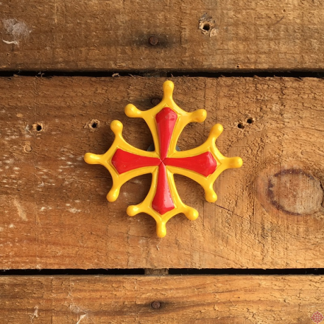 magnet résine croix occitane