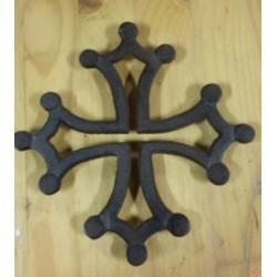 Dessous-de-plat fonte croix occitane