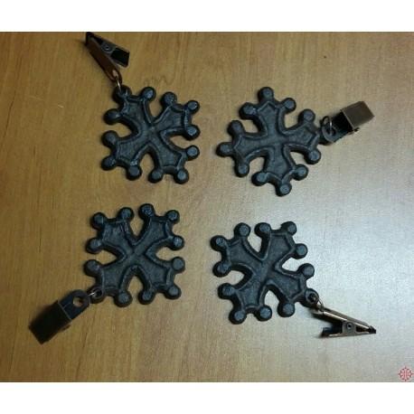 Poids de nappe croix occitane fonte