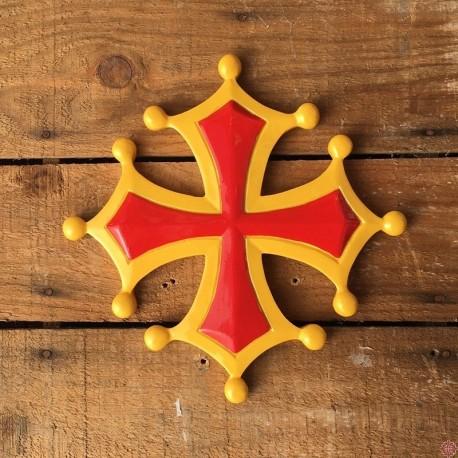 Décoration murale Croix occitane en résine grand modèle
