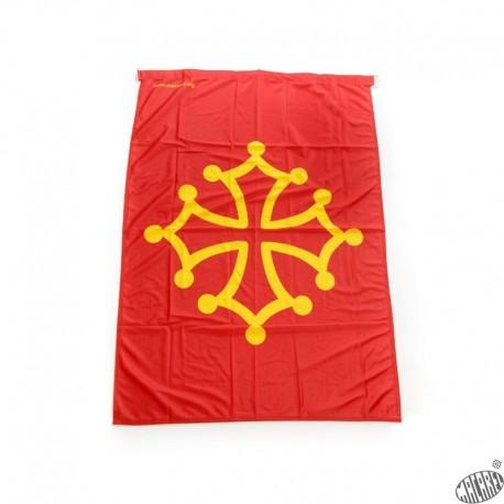 drapeau occitan 20x30cm vertical