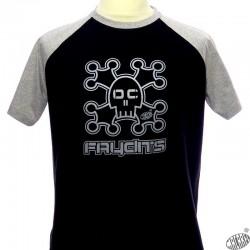 T-shirt humoristique tête de mort occitan Faydits