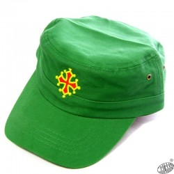 Casquette army croix occitane vert golf