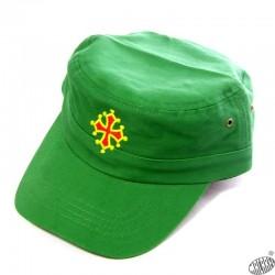 Lot de 25 casquettes army croix occitane vert golf