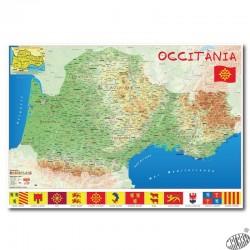 Carte Occitanie papier par 2