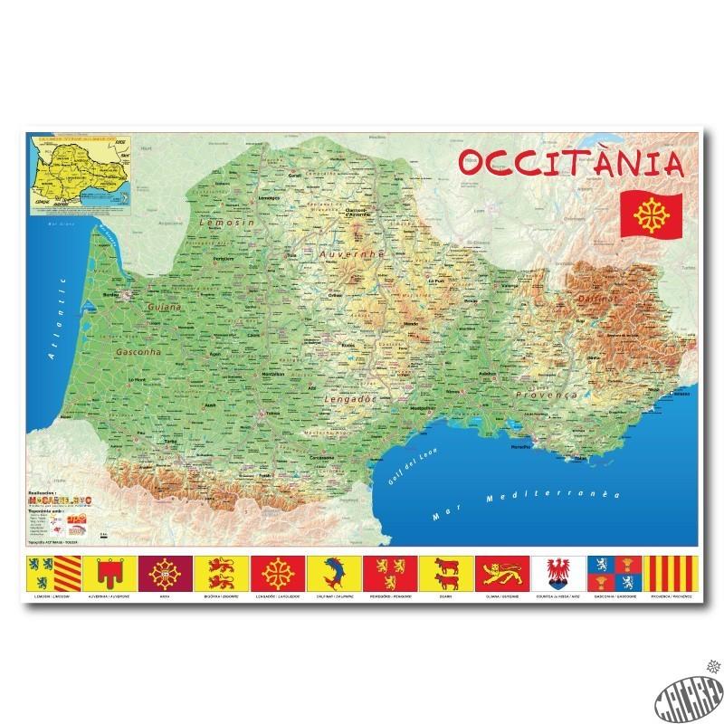 Carte Occitanie Papier