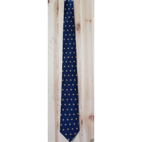 cravate marine motif croix occitanes
