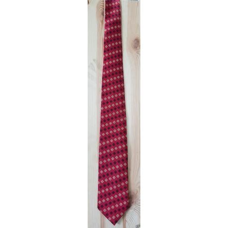 cravate bordeaux motif croix occitanes
