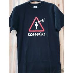 T-shirt humoristique occitan  Mèfi romegaire