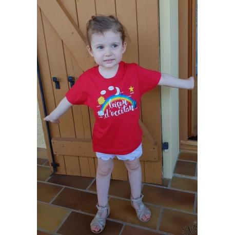 T-shirt enfant en occitan leiçon d'occitan rouge
