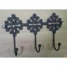 Patère croix occitane fonte 3 crochets par lot de 4