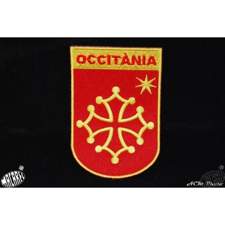 Ecusson à coudre ou coller blason croix occitane étoile