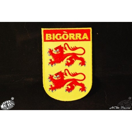 Blason brodé thermo-collant Bigorre 6x9cm