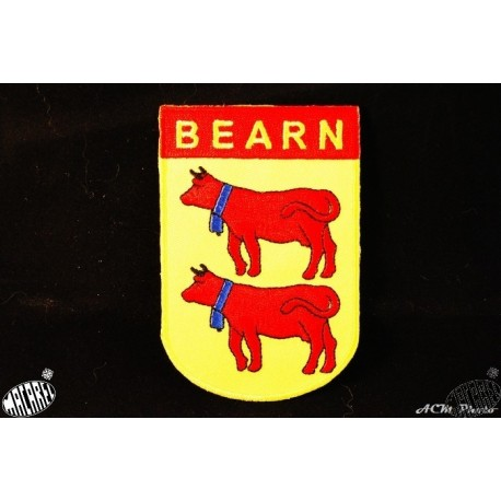 Blason brodé thermo-collant Béarn 6x9cm
