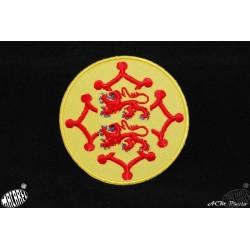 Écusson thermo Bigorre croix oc diamètre 6cm