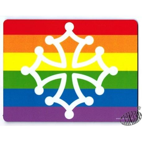 Tapis de souris croix occitane -Oc pride