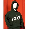 Sweat à capuche humour occitan Evolution rugby vert