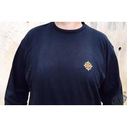 T-shirt manches longues croix brodée