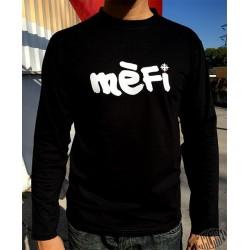 T-shirt homme noir à manches longues Mèfi