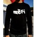 T-shirt homme noir à manches longues en occitan Mèfi