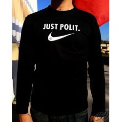 T-shirt homme noir humour occitan à manches longues Just polit