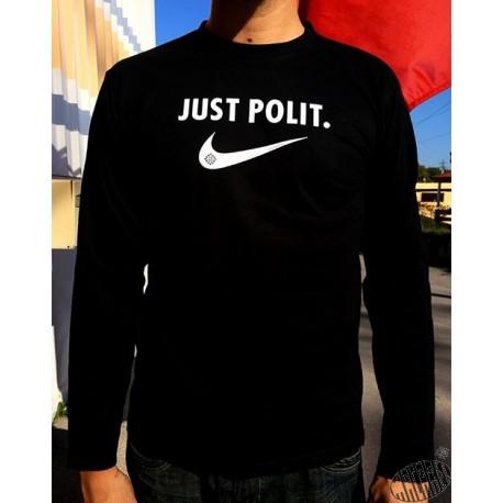 T-shirt homme noir à manches longues Just polit