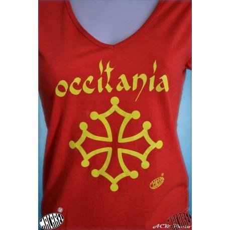 T-shirt rouge croix occitane occitània