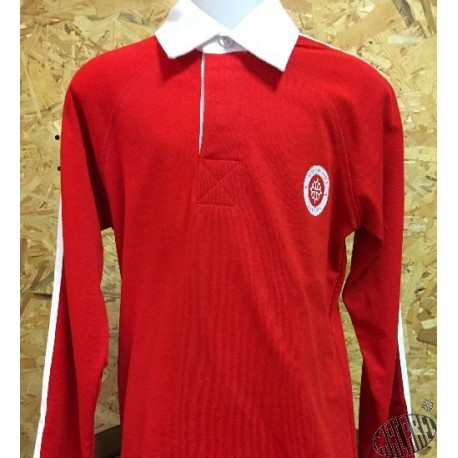 Polo rugby enfant rouge occitan Made in aqui croix occitane