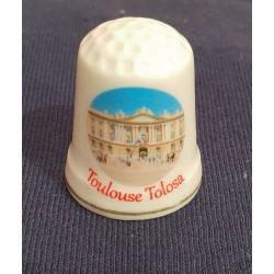 Dé à coudre en porcelaine Toulouse Le Capitole