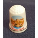 Dé à coudre en porcelaine Toulouse Pont-Neuf
