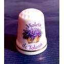 Dé à coudre en porcelaine Violette de toulouse