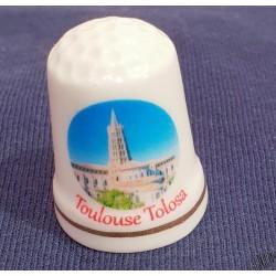 Dé à coudre en porcelaine Toulouse St-Sernin