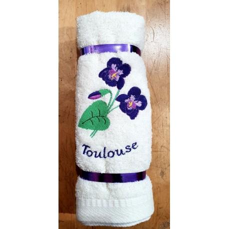 essuie-mains carré éponge violette Toulouse