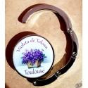 accroche-sac décor Violettes de Toulouse