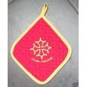 manique rouge décor croix occitane et Toulouse