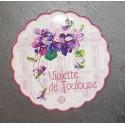 Dessous-de-plat festonné décor violettes de Toulouse