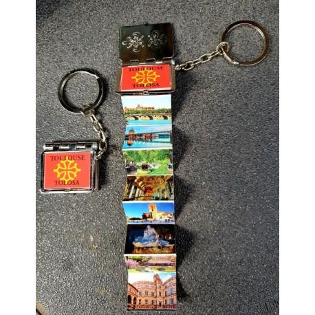 porte-clés vues Toulouse forme livre