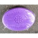 savon ovale parfum violette avec croix occitane