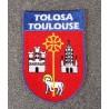 Ecusson blason Toulouse à coudre ou à coller