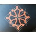 Tapis de souris noir croix occitane Siegel