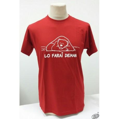 T-shirt Homme Lo farai deman rouge humoristique occitan