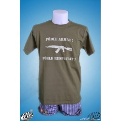 T-shirt « Pòble armat, pòble … ""