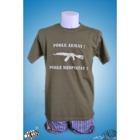 """T-shirt « Pòble armat, pòble … """""""