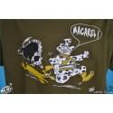 T-shirt Homme humoristique Macarel Chasse Kaki