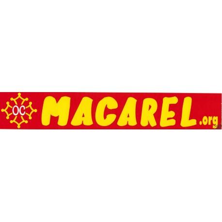 Autocollant Macarel.org