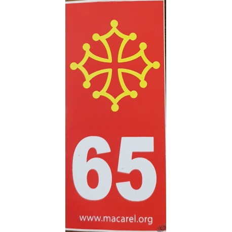 auto-collant de plaque 65 rouge