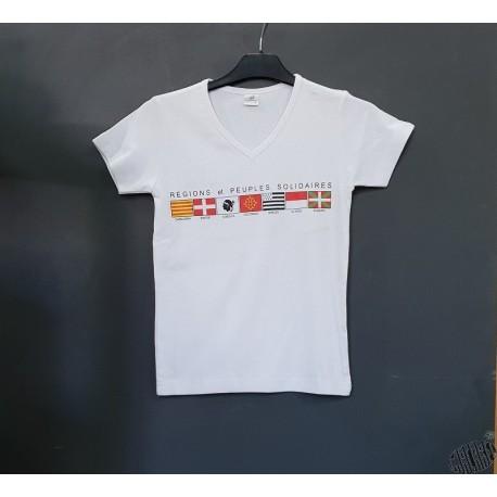 T-shirt Femme occitan Régions et Peuples Solidaires croix occitane
