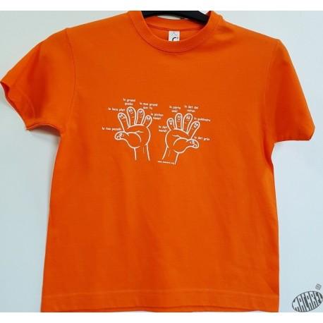 T-shirt enfant doigts de la main en occitan
