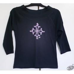 T-shirt femme manches 3/4 croix occitane  Baroc
