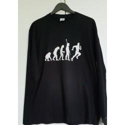 T-shirt homme noir humour occitan manches longues Evolution Rugby